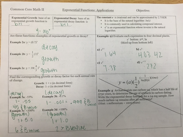 Class History Ms Chapmans Math 2 – Properties of Exponents Worksheet Answers